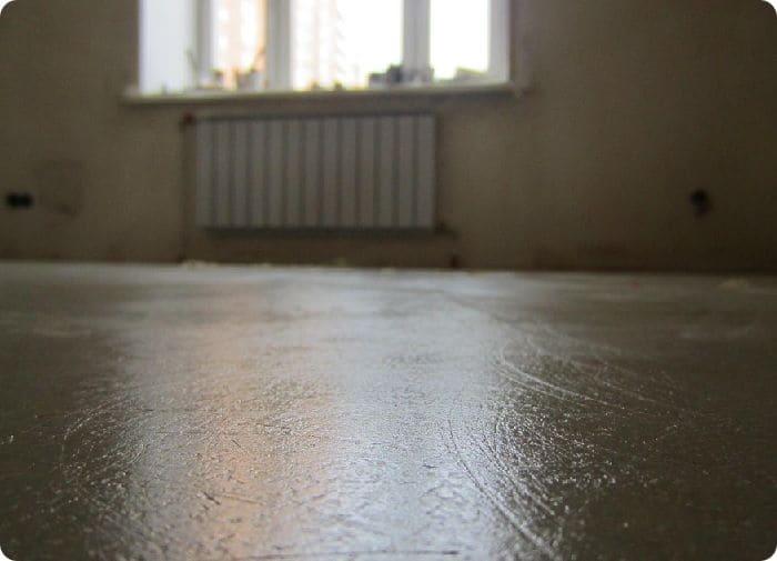 Бетонный пол в квартире