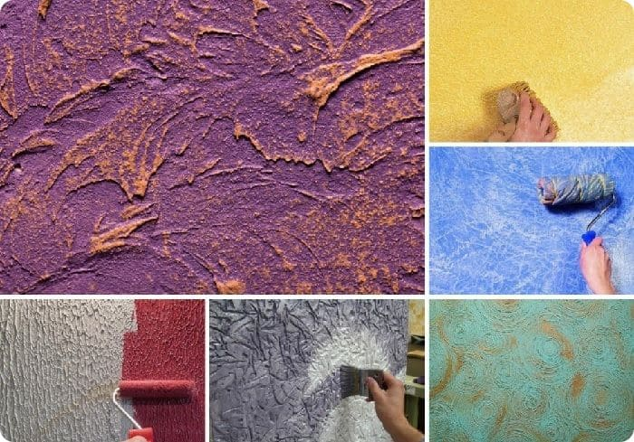 Рисунок зависит от инструментов, которыми наносится декоративная штукатурка.