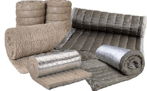 Базальтовое волокно штапельного плетения, прошитое стеклонитью или базальтовым жгутом.