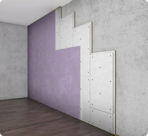 Бескаркасный способ шумоизоляции подходит для небольших комнат.