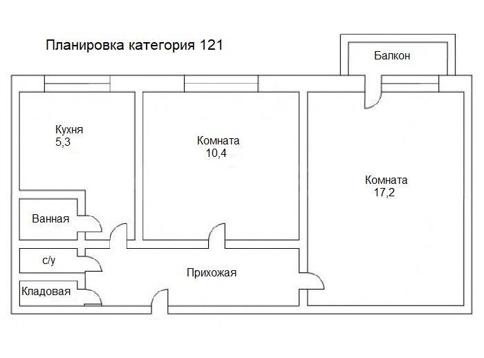 Планировка категория 121.