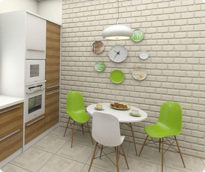Использование кирпичной кладки в экостиле позволяет создать иллюзию парковой стены или сада.