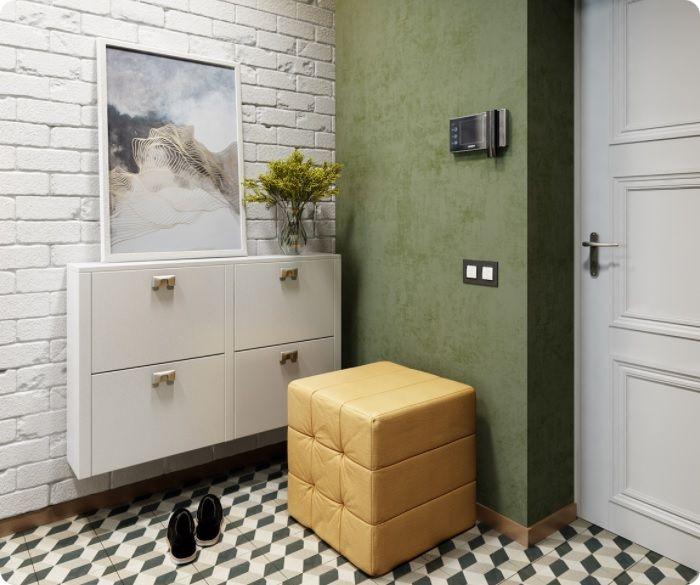Если разместить поблизости растения, коридор или прихожая заметно преобразятся — в стиль лофт будет внесена свежесть, подчёркнутая связь с природой.