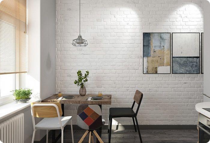 После лофта скандинавский стиль считается лидером по применению кирпичной эстетики в интерьере. В этом направлении акцент делается исключительно на белых либо максимально светлых кирпичных стенах, которые выкладываются из окрашенного керамического кирпича.