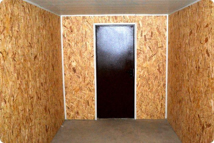 Внутренняя обшивка стен плитами OSB.