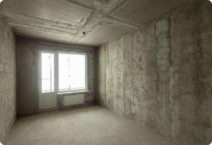 Комната в квартире-новостройке без отделки.