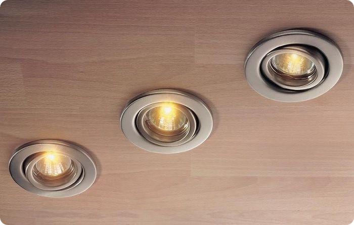 Точечные светильники.