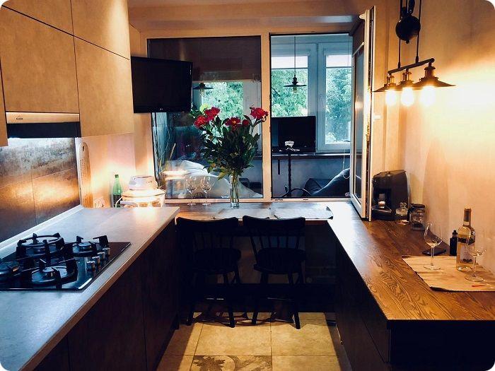 Уютная кухня 10 м².