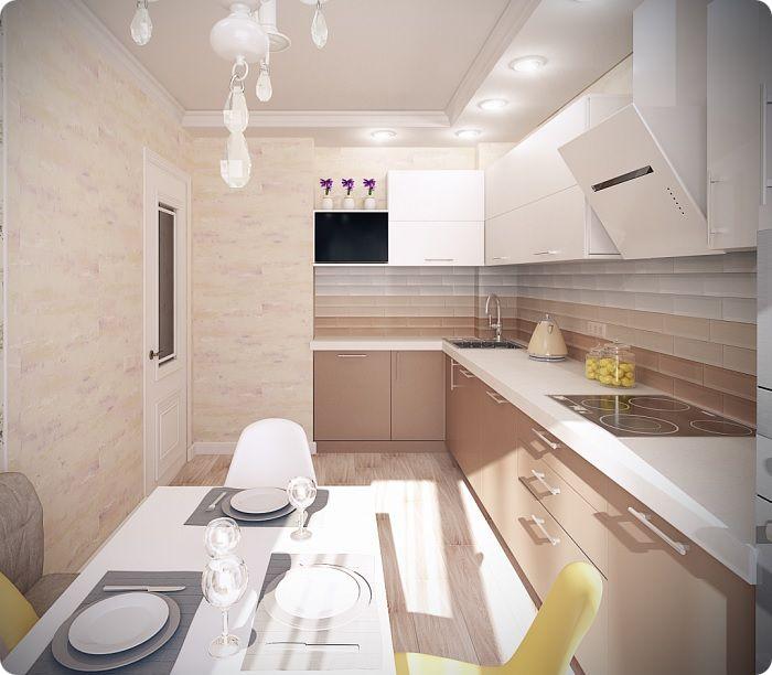 Прямоугольная кухня.