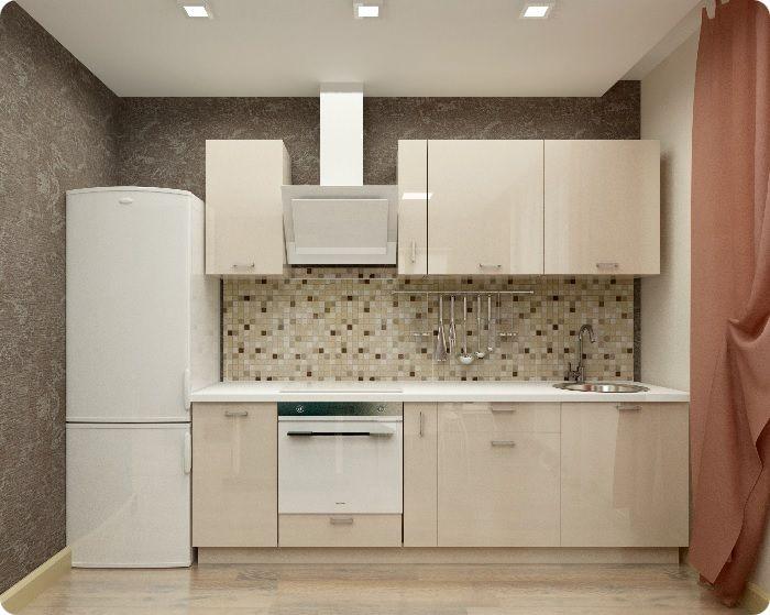 Кухня в кремовом цвете.