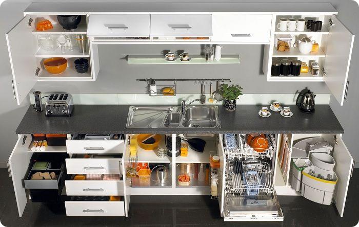 Эргономичная мебель для кухни.