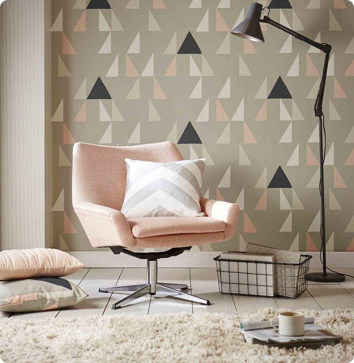 Геометрическая покраска стен в интерьере.