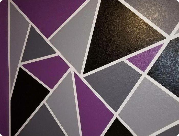 Геометрическая покраска стен.