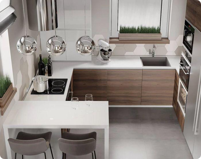 Функциональная светлая кухня.