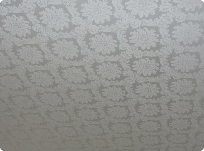 Тканевый натяжной потолок.