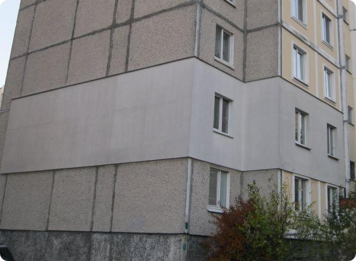 Утепление фасада угловой квартиры.