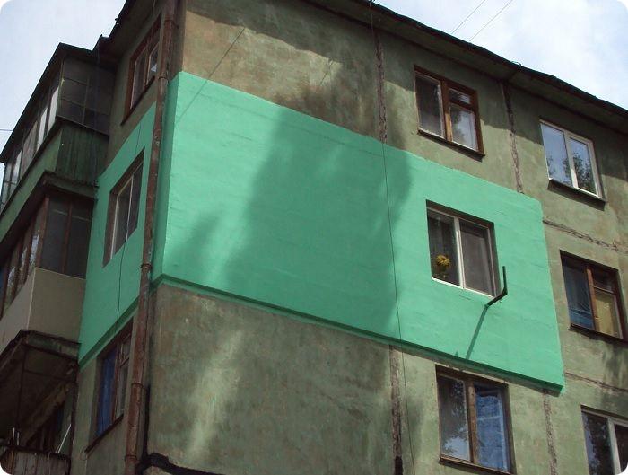 Утепление стен квартиры снаружи.