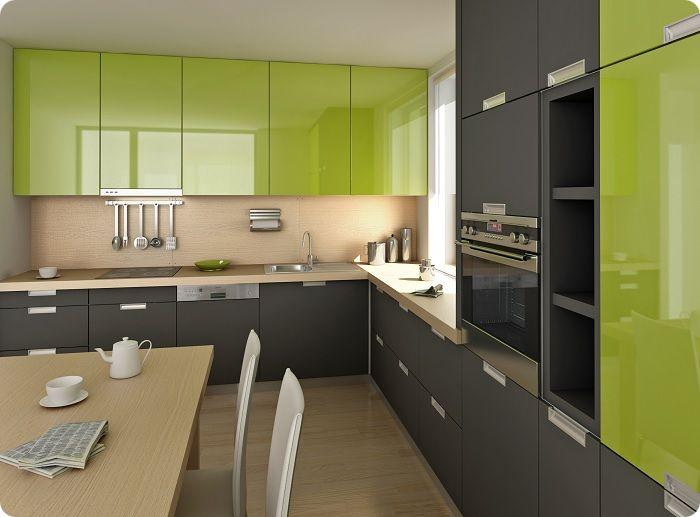 Комбинация зелёного с серым. Смотрится также презентабельно, но менее строго, чем сочетание зелёного с чёрным.