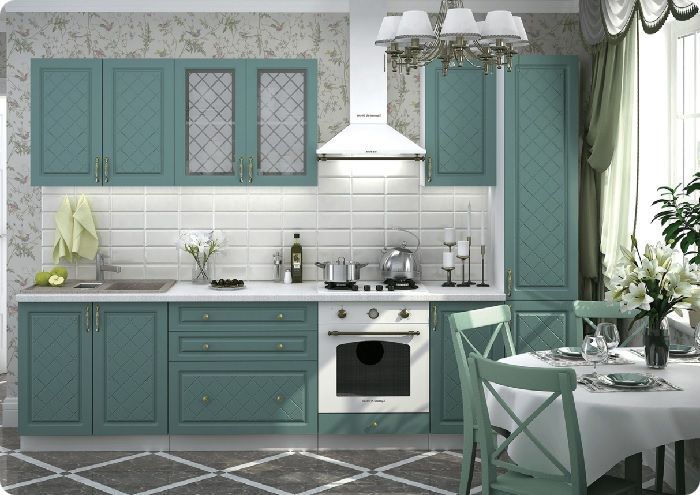 Сочетание зелёного с белым. Выглядит уникально и гармонично. Комбинация этих красок создает ощущение весны.