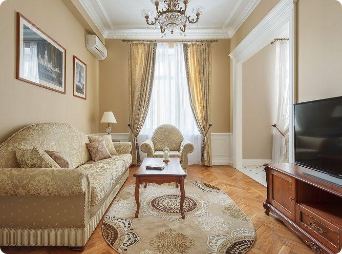 Классический стиль в интерьере гостиной.