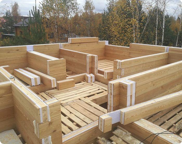 Строительство дома из термобруса.