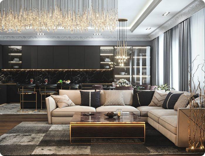 Современная гостиная 2021.