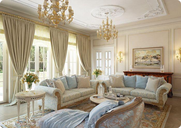 Аксессуары в гостиной, оформленной в классическом стиле.