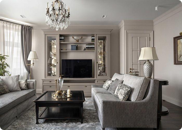 Элегантная гостиная в классическом стиле