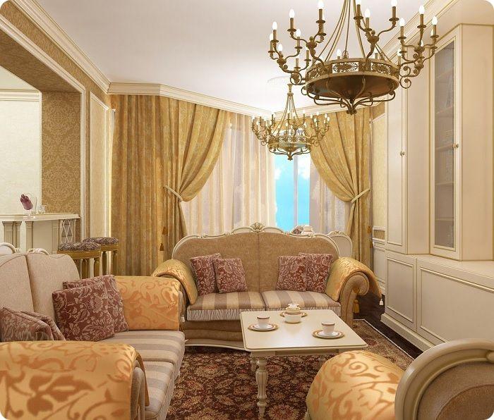 Маленькая гостиная в классическом стиле.