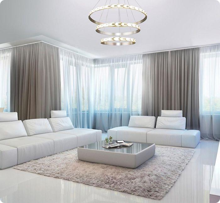 Интерьер светлой гостиной.
