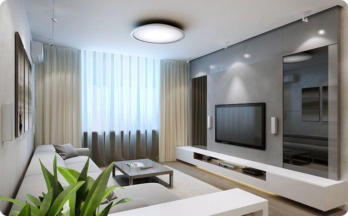 Гостиная 20 кв. м в стиле минимализм.