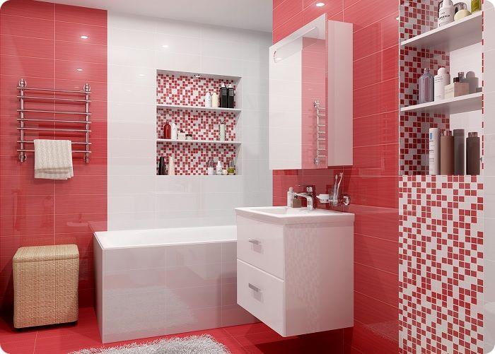 Облицовка ванной комнаты плиткой.