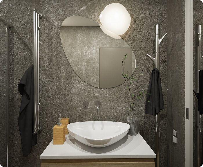 Декоративная штукатурка в ванной.