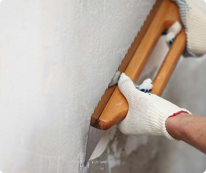 Подготовка стен к оштукатуриванию.