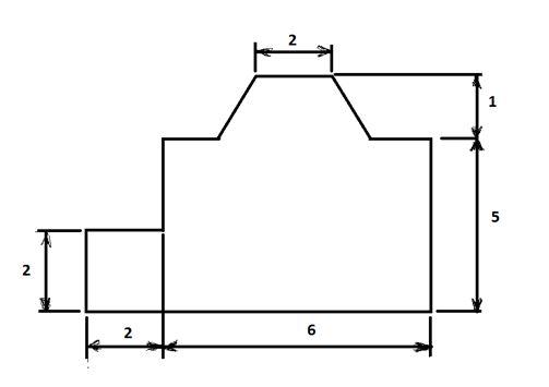 План помещения с эркером в виде половины шестиугольника.