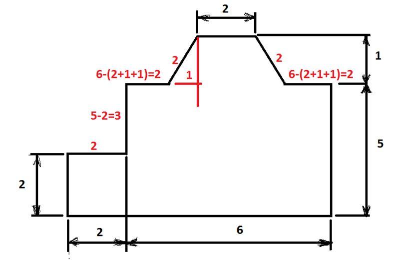 План комнаты для расчёта площади стен.
