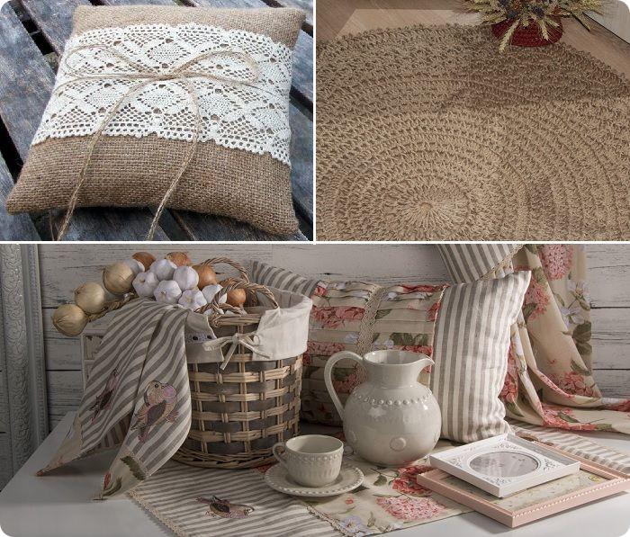 Натуральный текстиль — визитная карточка деревенского стиля.