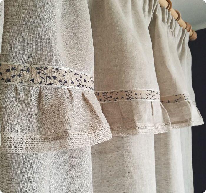 Натуральный текстиль — обязательный элемент деревенского стиля.