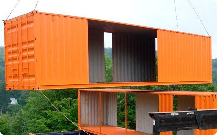 Установка контейнера.