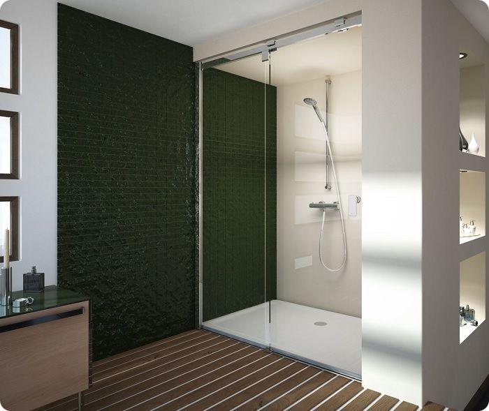 Если в санузле присутствует ниша, её можно обыграть, используя под душ, поскольку экономит пространство, позволяя отделить кабинку для купания от остального помещения.