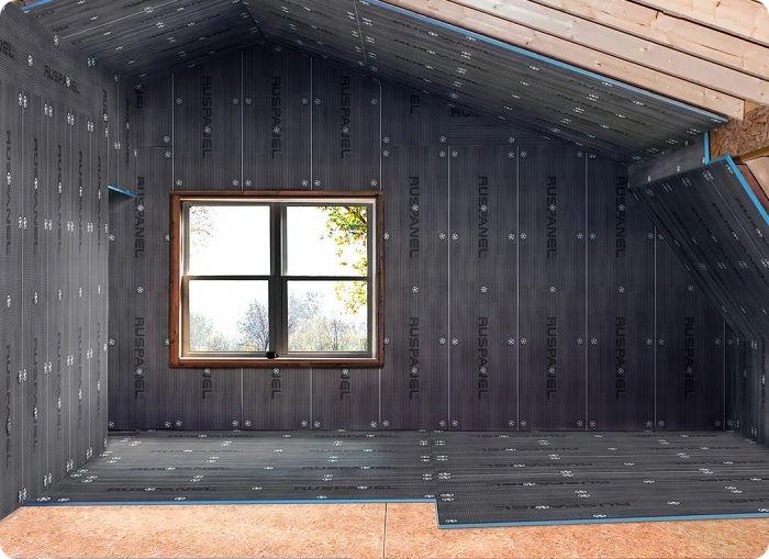 Звукоизоляция дома плитами Ruspenel Comfort.