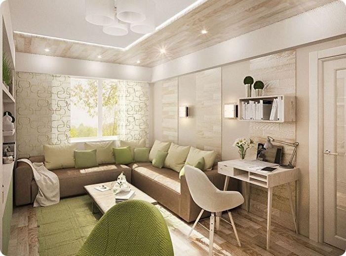 Экологичный стиль в гостиной.