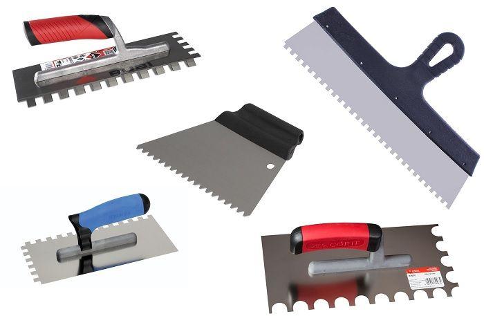 Инструменты для нанесения плиточного клея.