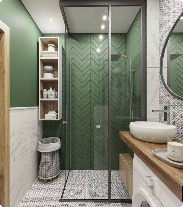 Ванная комната в экостиле.