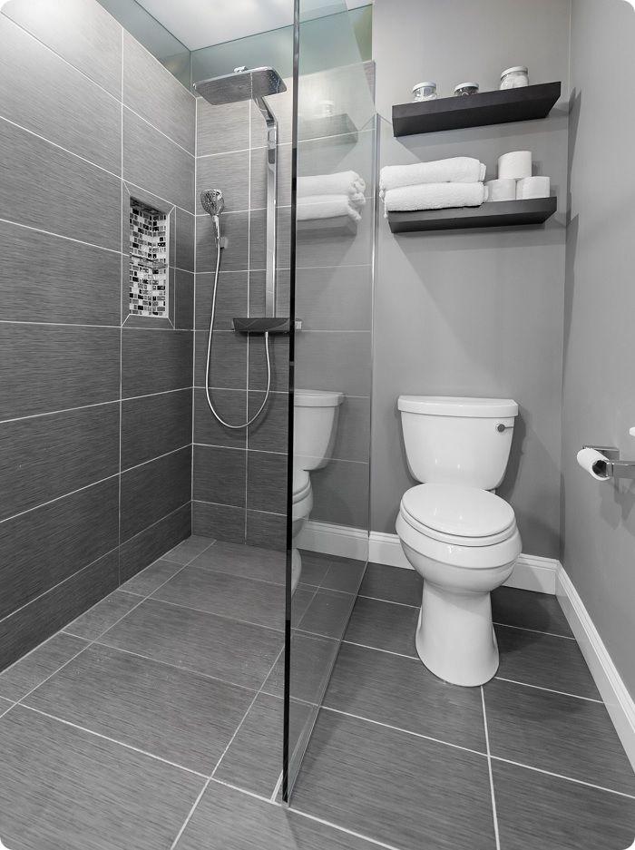 Серая ванная комната.